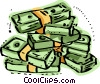Stacks of money Vector Clip Art picture