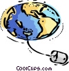 Plugged into the world wide web Vector Clipart image