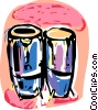 Bongo drums Vector Clipart graphic