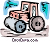 Vector Clipart image  of a Steam Rollers