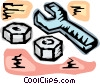Wrench and nuts Vector Clipart illustration