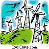 Vector Clipart graphic  of a Windmills
