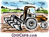Vector Clip Art graphic  of a Tillers