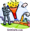 Vector Clip Art image  of a Investment and Stock Market