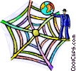 Vector Clip Art graphic  of a Webs
