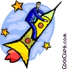 Businessman Soaring to New Heights Vector Clip Art picture