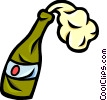 Corked Champagne Vector Clip Art graphic