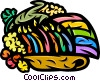 Colorful Menorah with corn Vector Clipart image