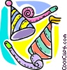 Vector Clipart image  of a Party hats and noise makers