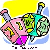 Vector Clip Art graphic  of a Dreidels
