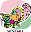 Vector Clipart graphic  of a Cornucopia
