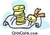 Money with certificate Vector Clip Art image