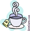 Vector Clipart graphic  of a Hot cup of tea