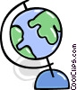 Vector Clip Art image  of a Colorful globe