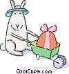 Vector Clip Art graphic  of a Easter Bunny