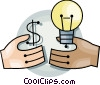 Vector Clipart image  of a Hands with idea concept