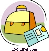 Lunch box and pamphlet Vector Clipart illustration