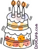 Birthday Cake Vector Clipart picture