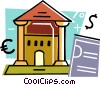 Vector Clipart picture  of a Banks