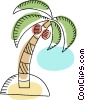 Palm tree and coconuts Vector Clip Art image