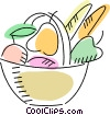 Vector Clipart picture  of a Fruit Bowls