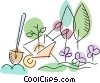 Vector Clip Art picture  of a Wheelbarrows