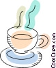 Hot cup of tea Vector Clipart picture
