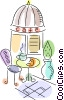 Vector Clipart graphic  of a Restaurant scenes