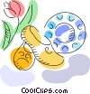 Vector Clipart image  of a Wooden Shoes