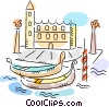Vector Clipart illustration  of a Gondolas