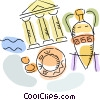 Vector Clip Art image  of a Egypt