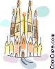 Vector Clipart image  of a International Buildings