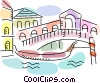 Vector Clip Art picture  of a Gondolas