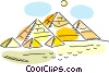 Egyptian Pyramids Vector Clipart graphic