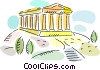 Parthenon Vector Clip Art graphic