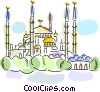 Vector Clipart graphic  of a International Buildings