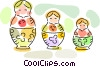 Matrioshka dolls Vector Clipart graphic