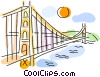 Vector Clipart graphic  of a Golden Gate Bridge