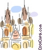 Vector Clip Art graphic  of a Churches