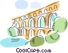 Roman Aqueducts and Walls Vector Clip Art picture