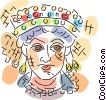 Vector Clipart illustration  of a Egyptian People