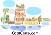 International Buildings Vector Clipart illustration