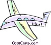Vector Clipart image  of a Commercial jet