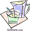 Vector Clip Art graphic  of a Juice jug and measuring cup