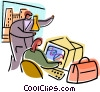 People doing Medical Research Vector Clipart illustration
