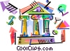 Vector Clipart illustration  of a Bank symbols