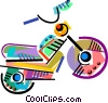 Colorful motorcycle Vector Clipart image