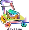 Colorful lawnmower Vector Clipart illustration