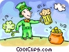 Vector Clipart graphic  of a Irishman celebrating St.