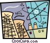 Vector Clip Art picture  of a Power Plants